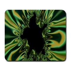 Burning Ship Fractal Silver Green Hole Black Large Mousepads by Mariart
