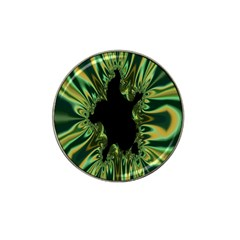 Burning Ship Fractal Silver Green Hole Black Hat Clip Ball Marker by Mariart
