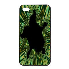 Burning Ship Fractal Silver Green Hole Black Apple Iphone 4/4s Seamless Case (black) by Mariart