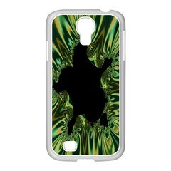 Burning Ship Fractal Silver Green Hole Black Samsung Galaxy S4 I9500/ I9505 Case (white)