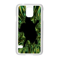 Burning Ship Fractal Silver Green Hole Black Samsung Galaxy S5 Case (white) by Mariart