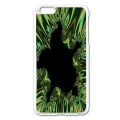 Burning Ship Fractal Silver Green Hole Black Apple Iphone 6 Plus/6s Plus Enamel White Case by Mariart