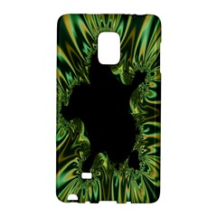 Burning Ship Fractal Silver Green Hole Black Galaxy Note Edge by Mariart
