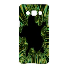 Burning Ship Fractal Silver Green Hole Black Samsung Galaxy A5 Hardshell Case  by Mariart