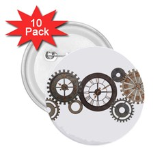 Hour Time Iron 2 25  Buttons (10 Pack)