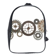 Hour Time Iron School Bags(large)  by Mariart