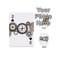 Hour Time Iron Playing Cards 54 (mini)  by Mariart