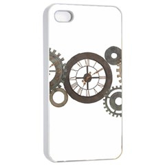 Hour Time Iron Apple Iphone 4/4s Seamless Case (white) by Mariart