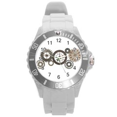 Hour Time Iron Round Plastic Sport Watch (l) by Mariart
