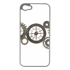 Hour Time Iron Apple Iphone 5 Case (silver) by Mariart