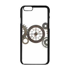 Hour Time Iron Apple Iphone 6/6s Black Enamel Case by Mariart