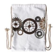 Hour Time Iron Drawstring Bag (large) by Mariart