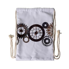 Hour Time Iron Drawstring Bag (small) by Mariart