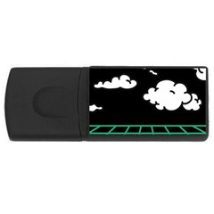 Illustration Cloud Line White Green Black Spot Polka Usb Flash Drive Rectangular (4 Gb) by Mariart