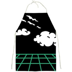 Illustration Cloud Line White Green Black Spot Polka Full Print Aprons by Mariart