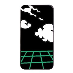 Illustration Cloud Line White Green Black Spot Polka Apple Iphone 4/4s Seamless Case (black)