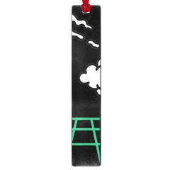 Illustration Cloud Line White Green Black Spot Polka Large Book Marks by Mariart