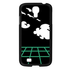 Illustration Cloud Line White Green Black Spot Polka Samsung Galaxy S4 I9500/ I9505 Case (black) by Mariart
