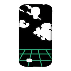 Illustration Cloud Line White Green Black Spot Polka Samsung Galaxy S4 Classic Hardshell Case (pc+silicone) by Mariart