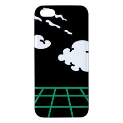 Illustration Cloud Line White Green Black Spot Polka Iphone 5s/ Se Premium Hardshell Case by Mariart
