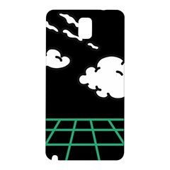 Illustration Cloud Line White Green Black Spot Polka Samsung Galaxy Note 3 N9005 Hardshell Back Case by Mariart
