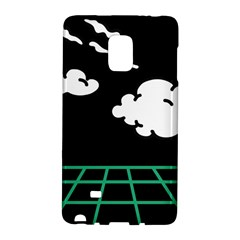 Illustration Cloud Line White Green Black Spot Polka Galaxy Note Edge by Mariart