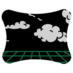 Illustration Cloud Line White Green Black Spot Polka Jigsaw Puzzle Photo Stand (bow) by Mariart