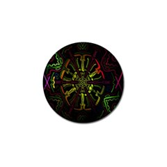 Inner Peace Star Space Rainbow Golf Ball Marker by Mariart