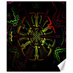 Inner Peace Star Space Rainbow Canvas 20  X 24   by Mariart