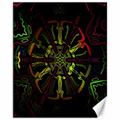 Inner Peace Star Space Rainbow Canvas 11  X 14   by Mariart