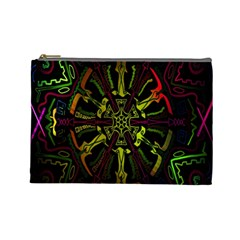Inner Peace Star Space Rainbow Cosmetic Bag (large)  by Mariart