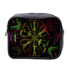 Inner Peace Star Space Rainbow Mini Toiletries Bag 2 Side by Mariart