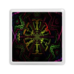 Inner Peace Star Space Rainbow Memory Card Reader (square)  by Mariart