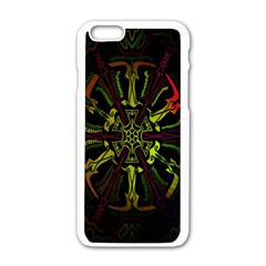 Inner Peace Star Space Rainbow Apple Iphone 6/6s White Enamel Case by Mariart