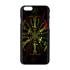 Inner Peace Star Space Rainbow Apple Iphone 6/6s Black Enamel Case by Mariart