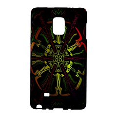 Inner Peace Star Space Rainbow Galaxy Note Edge by Mariart