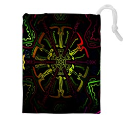 Inner Peace Star Space Rainbow Drawstring Pouches (xxl) by Mariart
