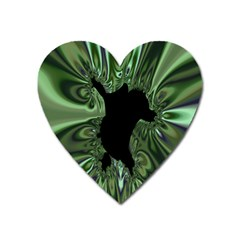 Hole Space Silver Black Heart Magnet by Mariart