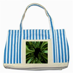 Hole Space Silver Black Striped Blue Tote Bag