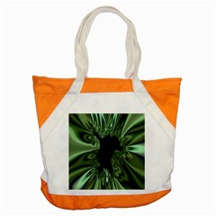 Hole Space Silver Black Accent Tote Bag