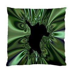 Hole Space Silver Black Standard Cushion Case (two Sides) by Mariart