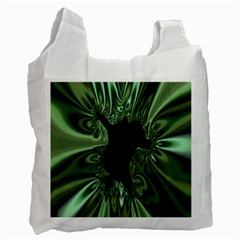 Hole Space Silver Black Recycle Bag (one Side) by Mariart