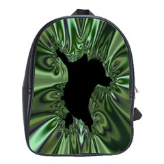 Hole Space Silver Black School Bags (xl)  by Mariart