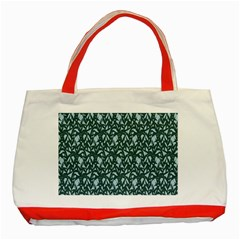 Interstellar Blog Tree Leaf Grey Classic Tote Bag (red) by Mariart
