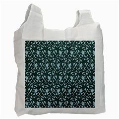 Interstellar Blog Tree Leaf Grey Recycle Bag (two Side)  by Mariart