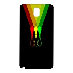 Lamp Colors Green Yellow Red Black Samsung Galaxy Note 3 N9005 Hardshell Back Case by Mariart