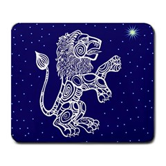 Leo Zodiac Star Large Mousepads by Mariart