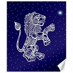 Leo Zodiac Star Canvas 8  X 10  by Mariart