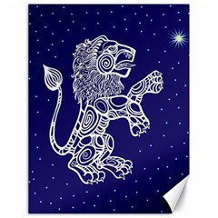 Leo Zodiac Star Canvas 18  X 24   by Mariart