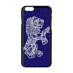 Leo Zodiac Star Apple Iphone 6/6s Black Enamel Case by Mariart